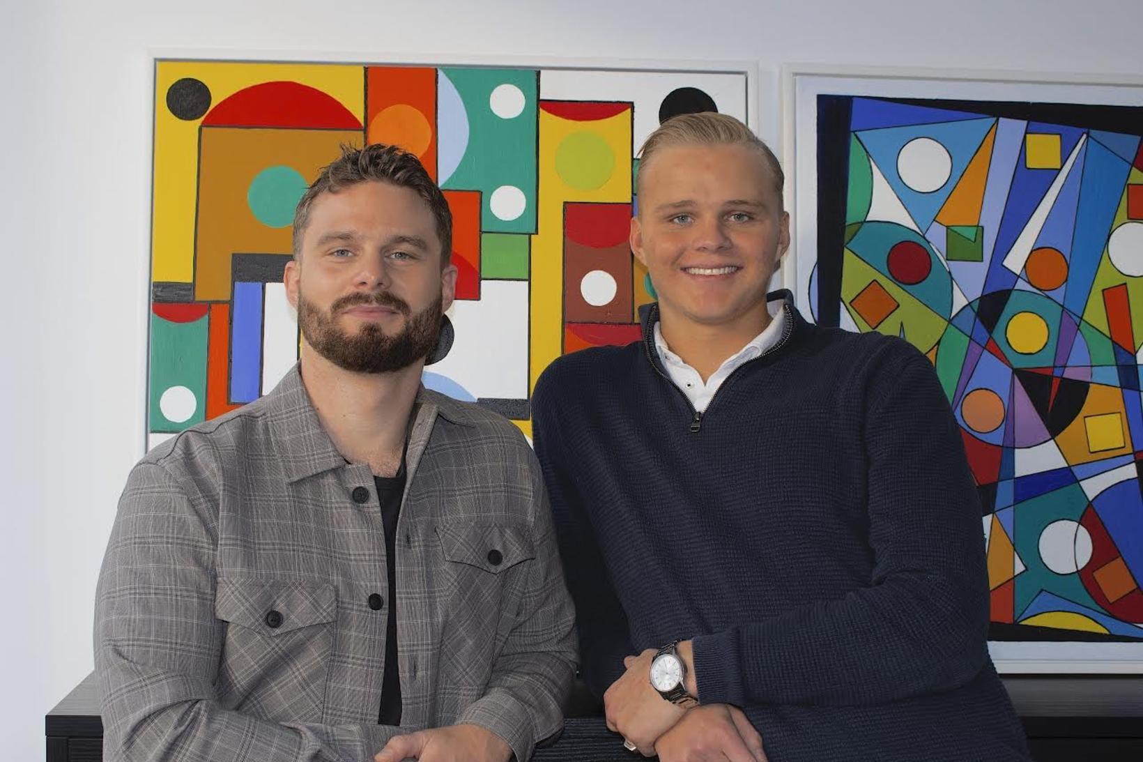 Ellert Lárusson og Pétur Jónsson stofnendur Apollo Art.