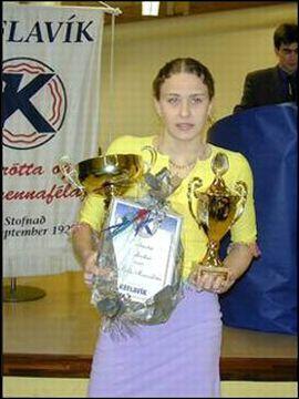Íris Edda Heimisdóttir var valin íþróttamaður Keflavíkur 1999.