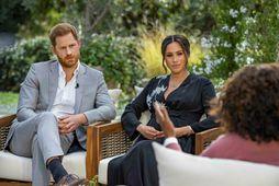 Harry og Meghan veittu Oprah Winfrey viðtal, sem sýnt var í nótt.