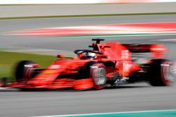 Sebastian Vettel var fljótastur í förum í Barcelona í daga. Svo hratt fór hann í …