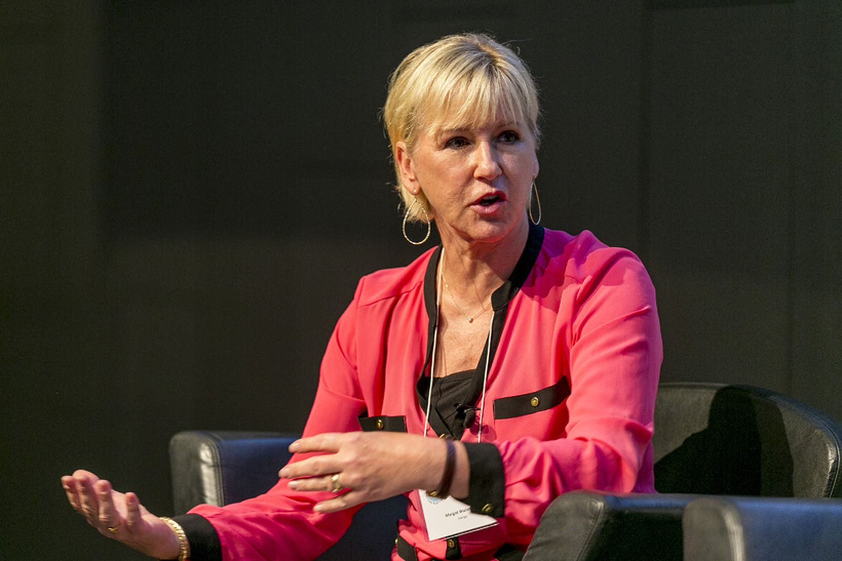 Margot Wallström á ráðstefnu í Reykjavík.
