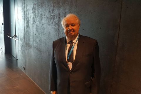 Sergei Kislyak attended the Arctic Circle summit in Harpa concert hall and conference centre last weekend.