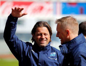 Helgi Kolviðsson og Heimir Hallgrímsson