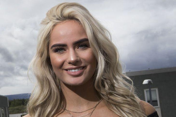 Sunneva Eir Einarsdóttir hitti Jennifer Lopez á árinu 2018.