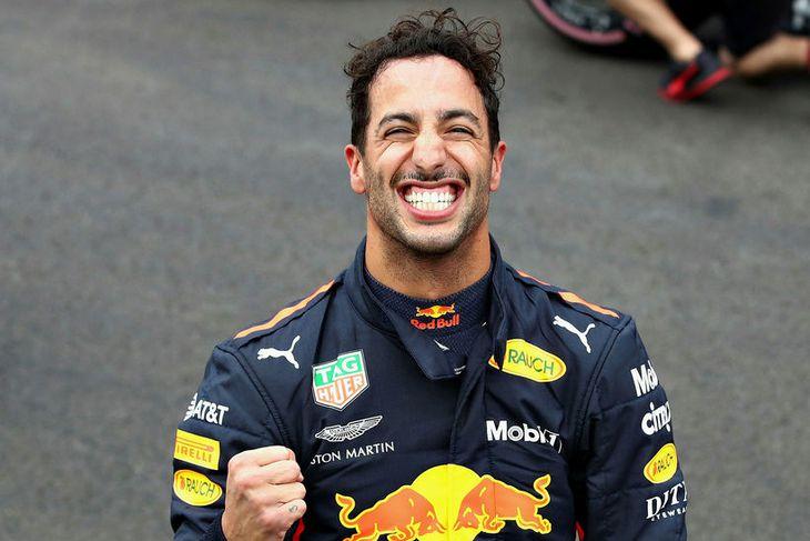 Daniel Ricciardo ánægður með ráspólinn í Mexíkó.