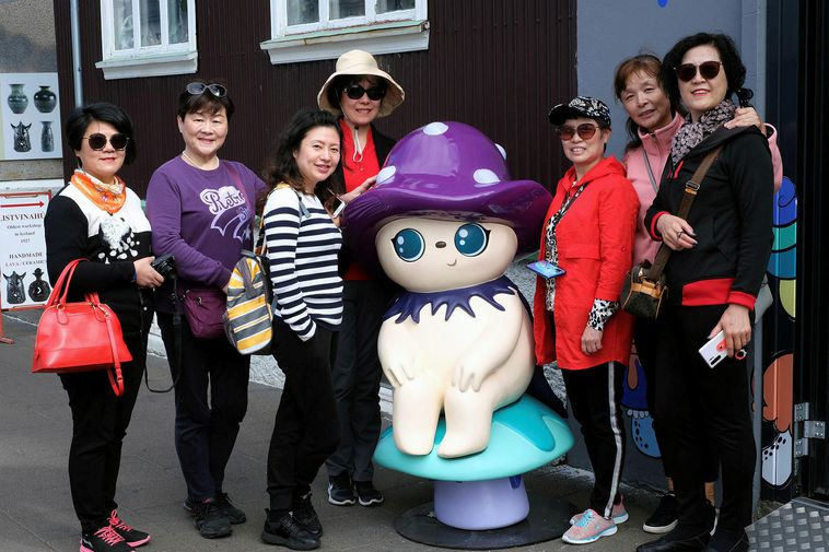 Chinese tourists in Iceland.