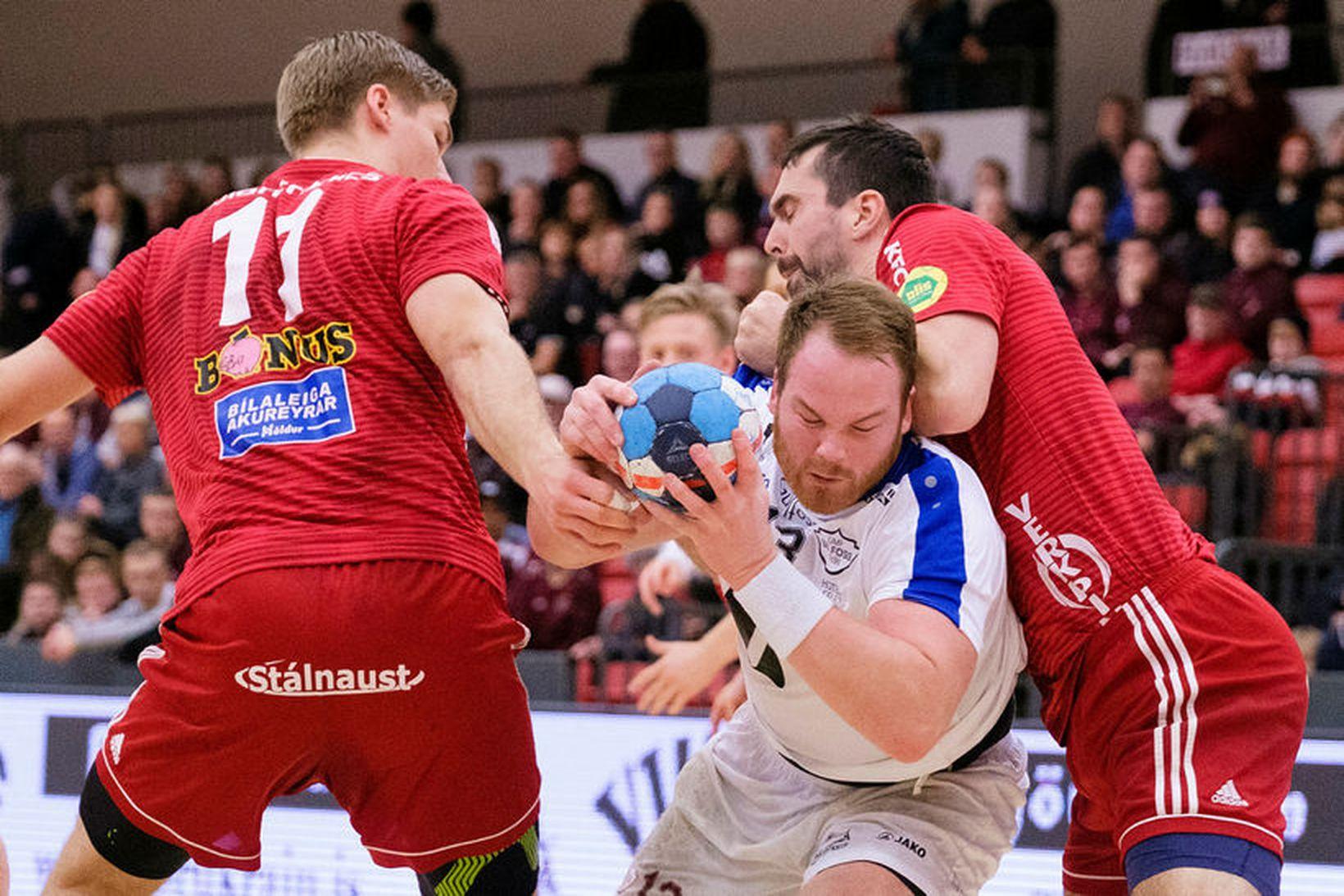 Atli Ævar Ingólfsson, línumaður Selfyssinga, skoraði 5 mörk í kvöld.