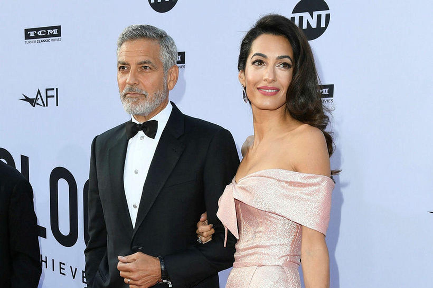 Amal Clooney hélt ræðu þegar George Clooney var heiðraður fyrir …