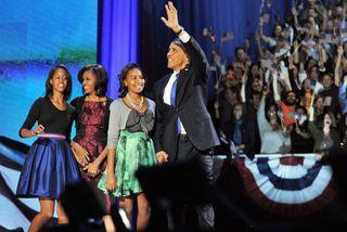 Barack Obama náði endurkjöri þrátt fyrir að staða efnahagsmála væri slæm og atvinnuleysi mikið.