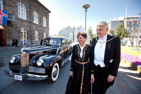Preisdent Ólafur Ragnar Grímsson and his wife Dorrit Moussaieff.