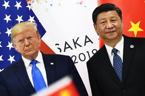US President Donald Trump and Chinese President Xi Jinping in Japan in June.