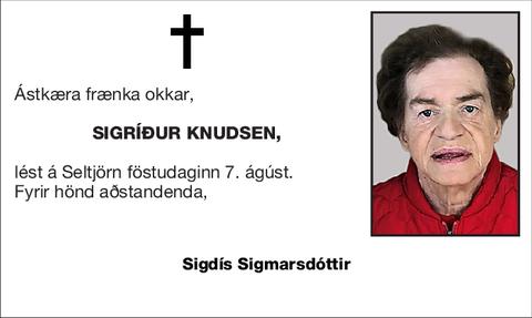 Sigríður Knudsen,