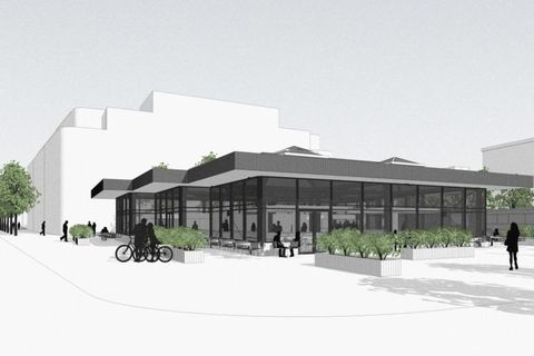 Former bus central Hlemmur will open as a  food hall this June.