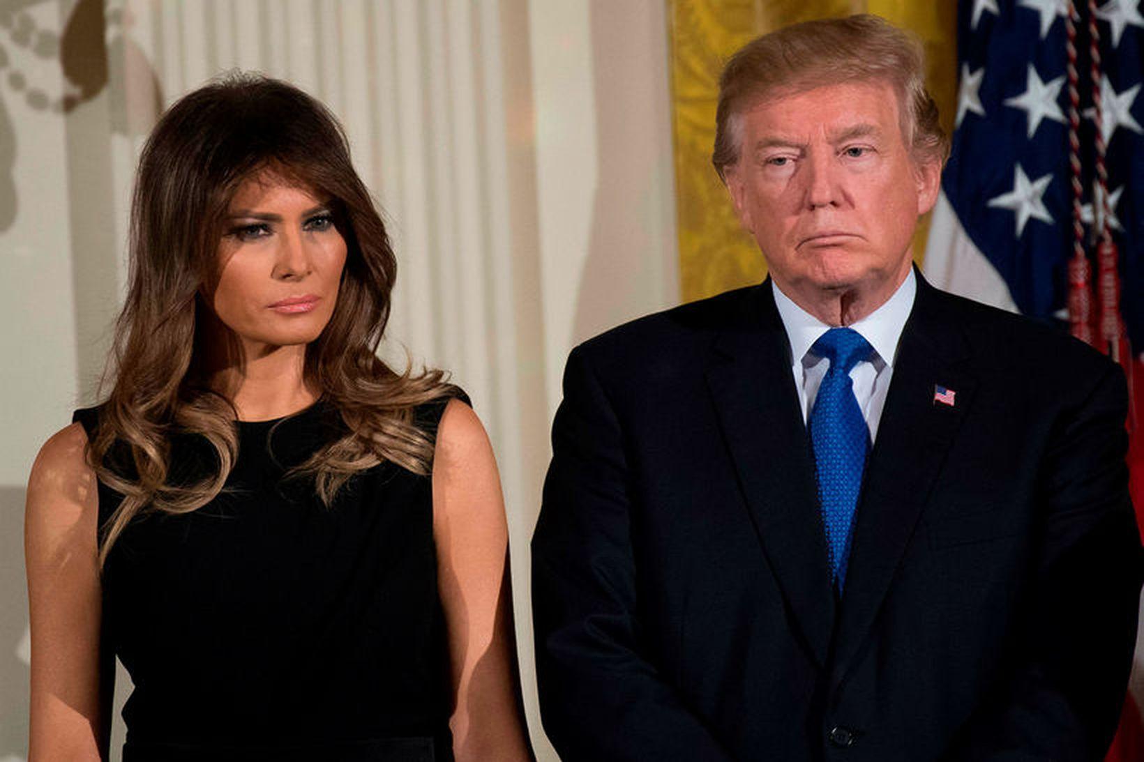 Melania Trump er sögð vera reið út í Donald Trump.