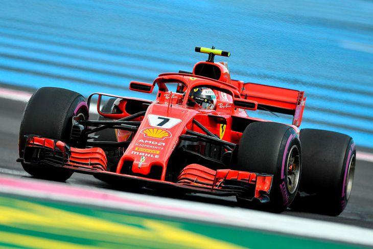Kimi Räikkönen kláraði kappaksturinn í Le Castellet með öflugum hætti og vann sig upp á ...