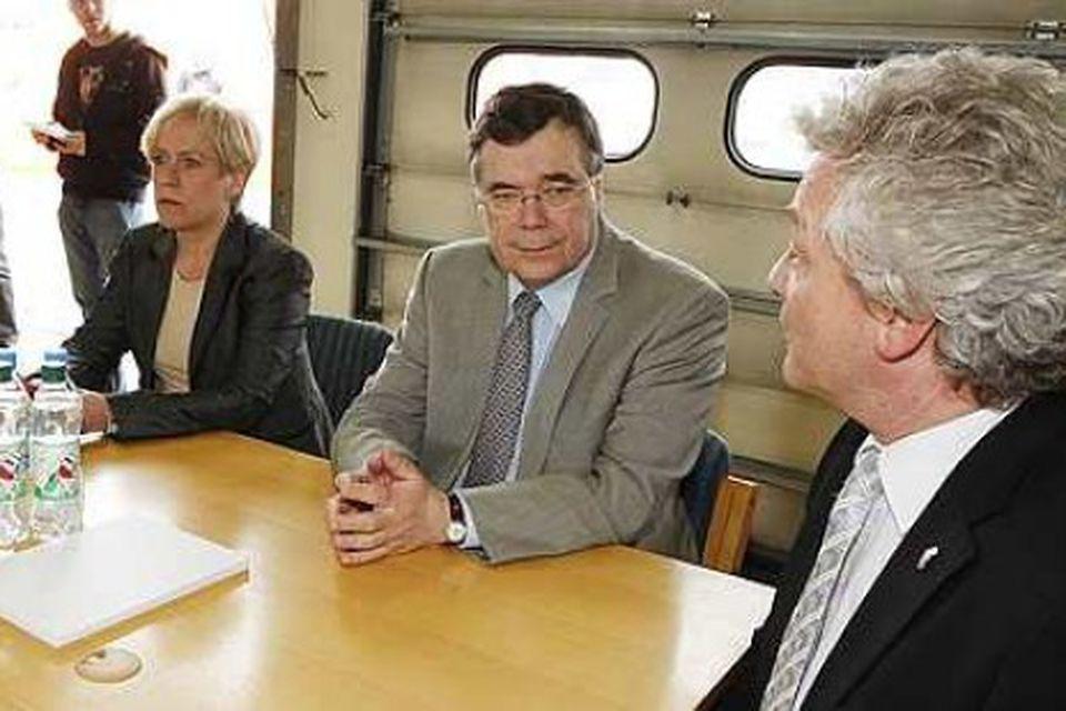 Ingibjörg Sólrún Gísladóttir og Geir H. Haarde hittu heimamenn á Selfossi og ræddu um stöðu …