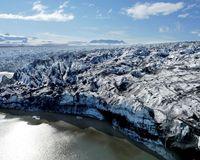 Research on Breiðamerkurjökull glacier took place last year.
