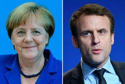 Merkel og Macron funda í Berlín í dag.