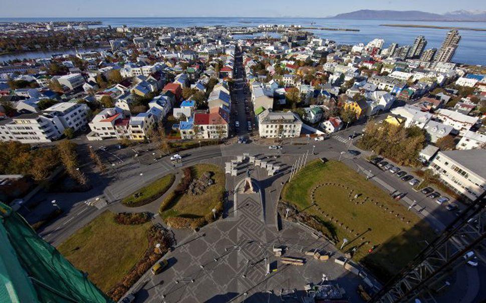 Reykjavík séð frá Hallgrímskirkjuturni
