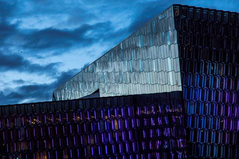 Harpa is a great place to gather at midnight on New Year's Eve.