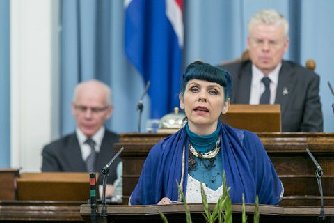 Birgitta Jónsdóttir, head of Iceland's Pirate Party,