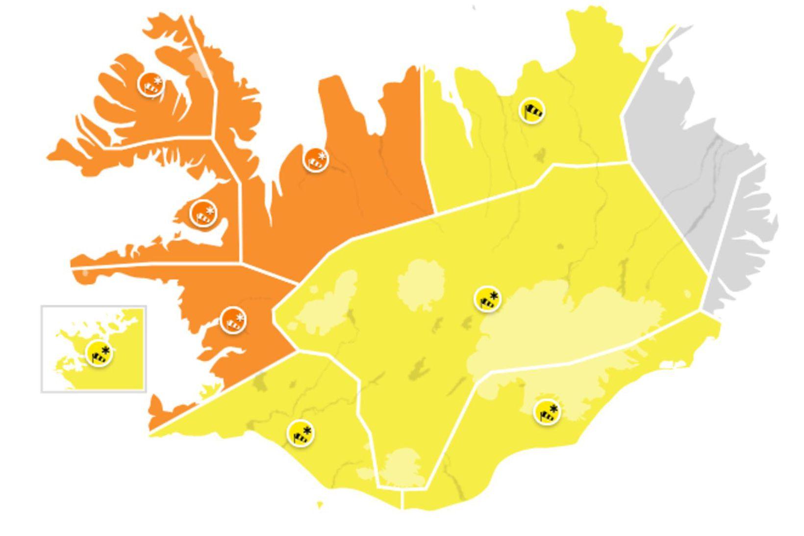 Það er greinilega best að vera á Austurlandi í dag.