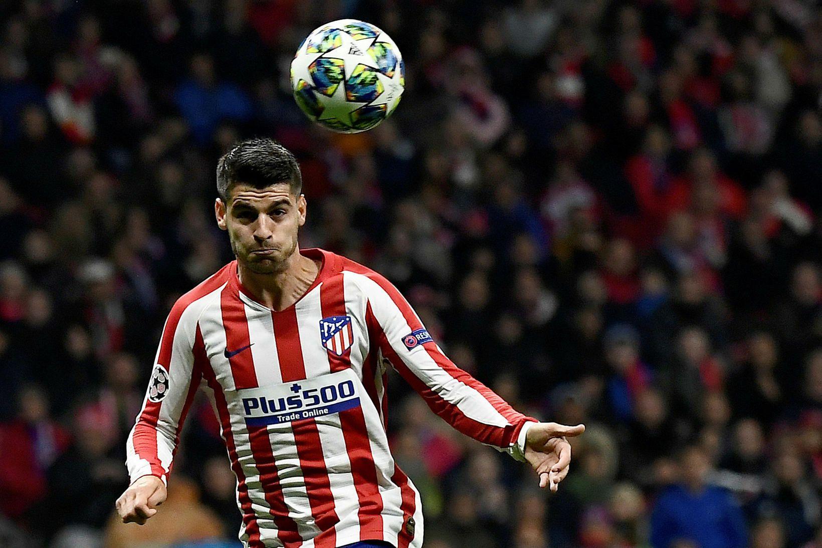 Álvaro Morata í leik með Atlético Madrid.