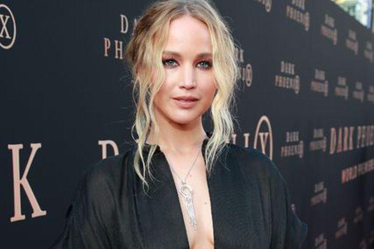 Jennifer Lawrence á frumsýningu kvikmyndarinnar Dark Phoenix í vikunni.
