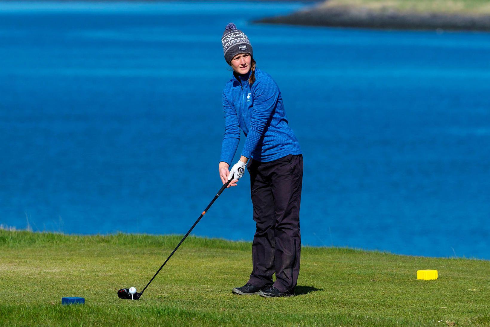 Guðrún Brá Björgvinsdóttir er ríkjandi Íslandsmeistari í golfi í kvennaflokki.