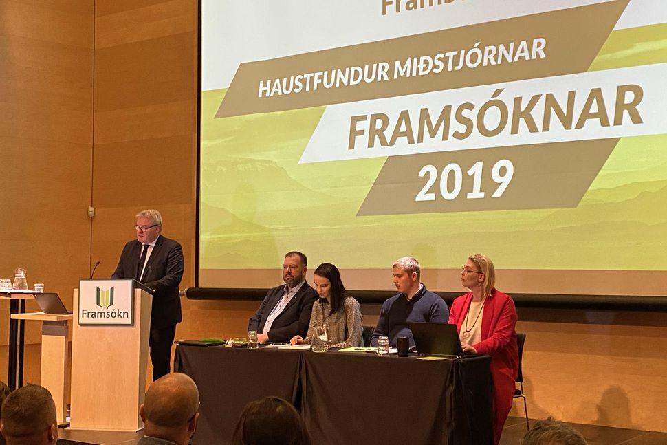 Sigurður Ingi Jóhannsson, formaður Framsóknarflokksins, fór yfir víðan völl á ...