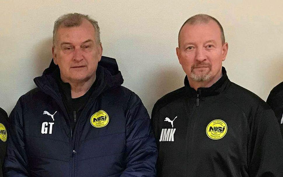 Guðjón Þórðarson og Jens Martin Knudsen