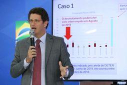 Ricardo Salles er staddur á loftslagsviku latnesku Ameríku og Karíbahafsins í brasilísku borginni Salvador.