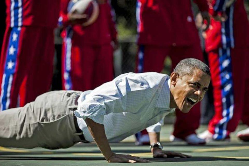 Kosningabaráttan var vel á veg komin strax um páskana í apríl og Barack Obama lét …