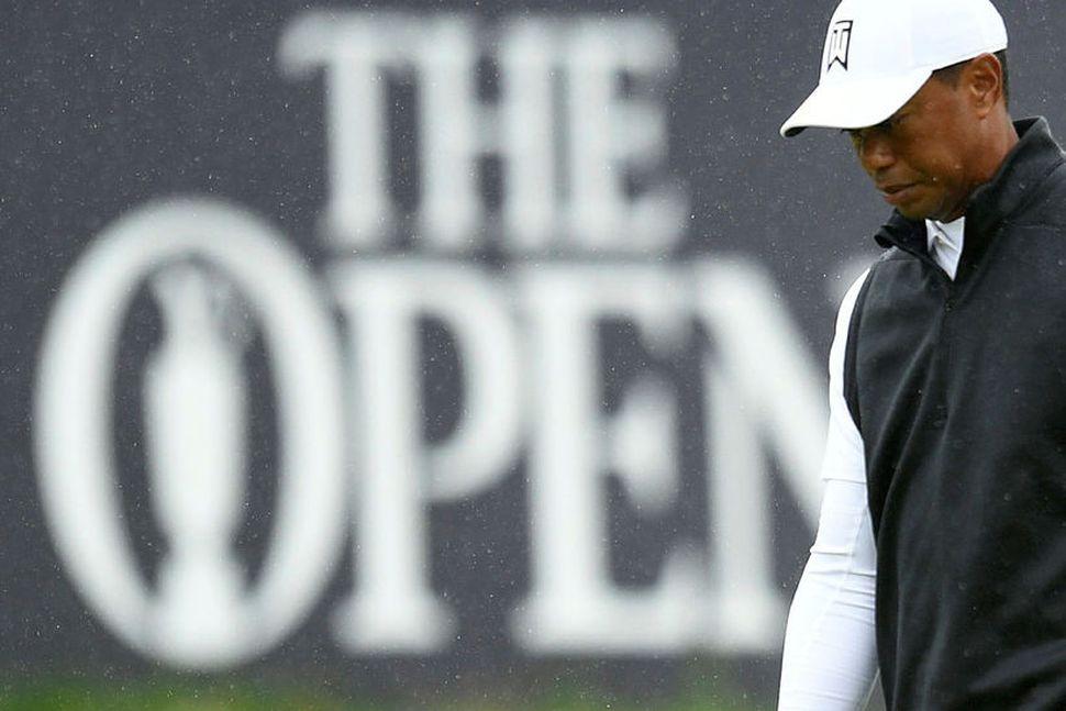 Tiger Woods náði sér ekki á strik á The Open.