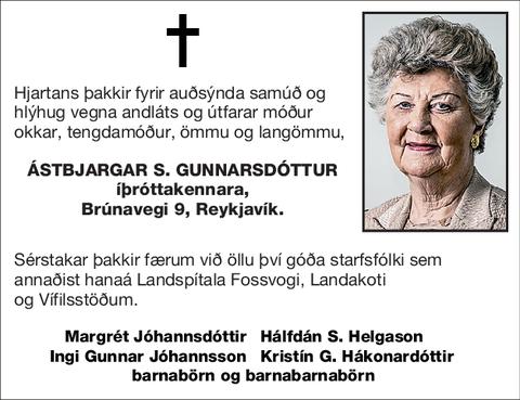 Ástbjargar S. Gunnarsdóttur