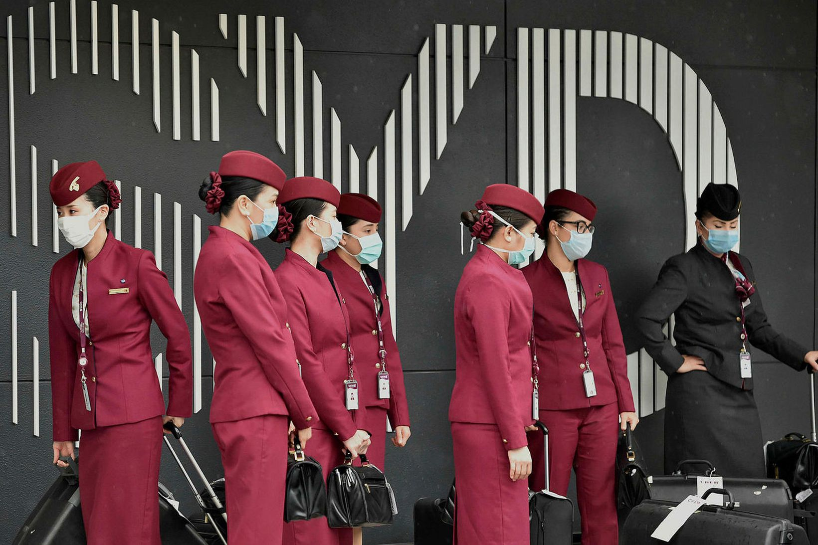 Qatar Airways sendir þakkir til heilbrigðisstarfsfólks.