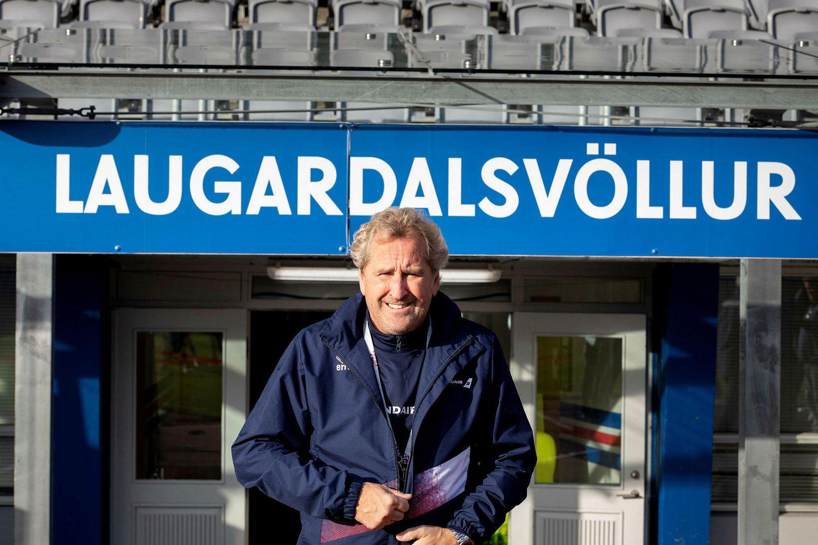 Erik Hamrén landsliðsþjálfari.