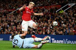 Donny van de Beek hefur fengið fá tækifæri með liði Manchester United.