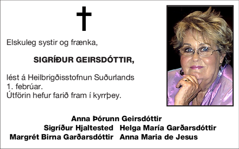 Sigríður Geirsdóttir,