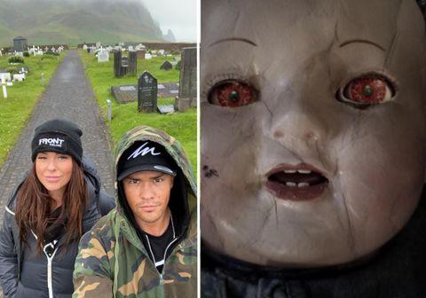 Dúkka sem á afar óhuggulega sögu um draugagang verður til sýnis í Kvikmyndaskóla Íslands yfir hrekkjavökuhelgina.