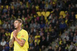 Emiliano Sala í búningi Nantes, þaðan sem hann var seldur til Cardiff.