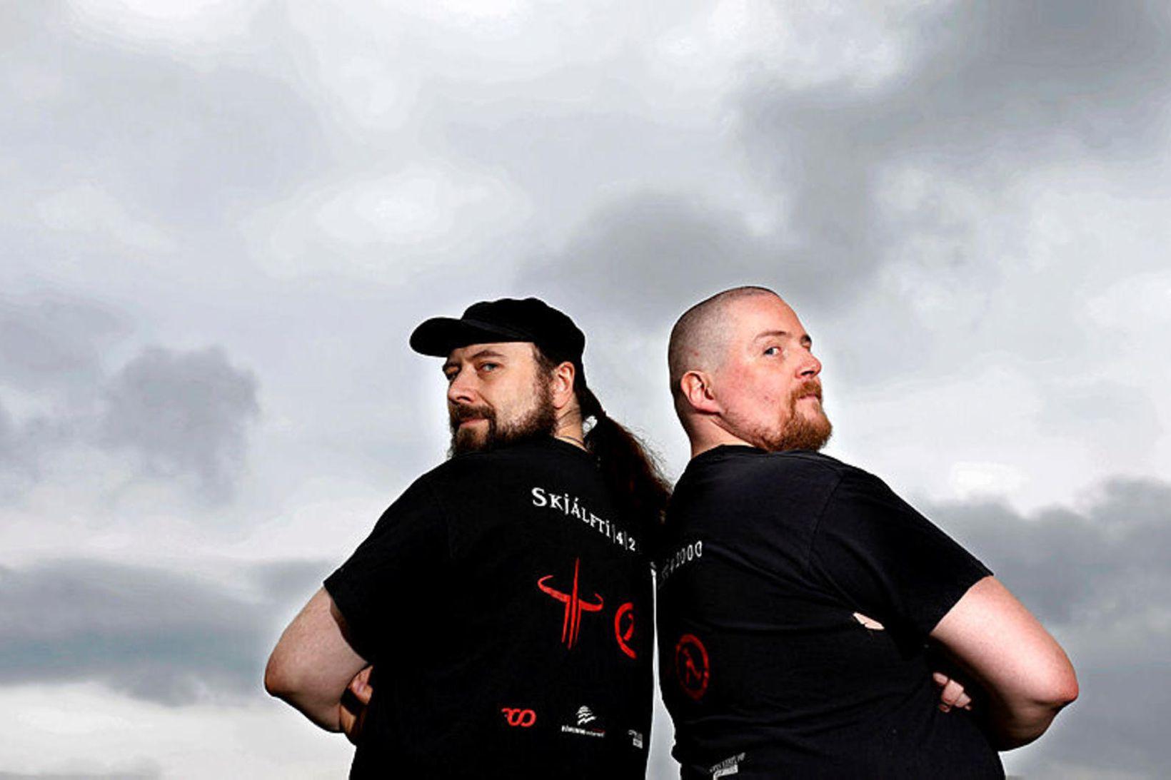 Theódór Árni og Guðmundur Kári.