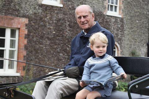 Filippus prins og Georg prins árið 2015. Myndina tók Katrín hertogaynja af Sussex.