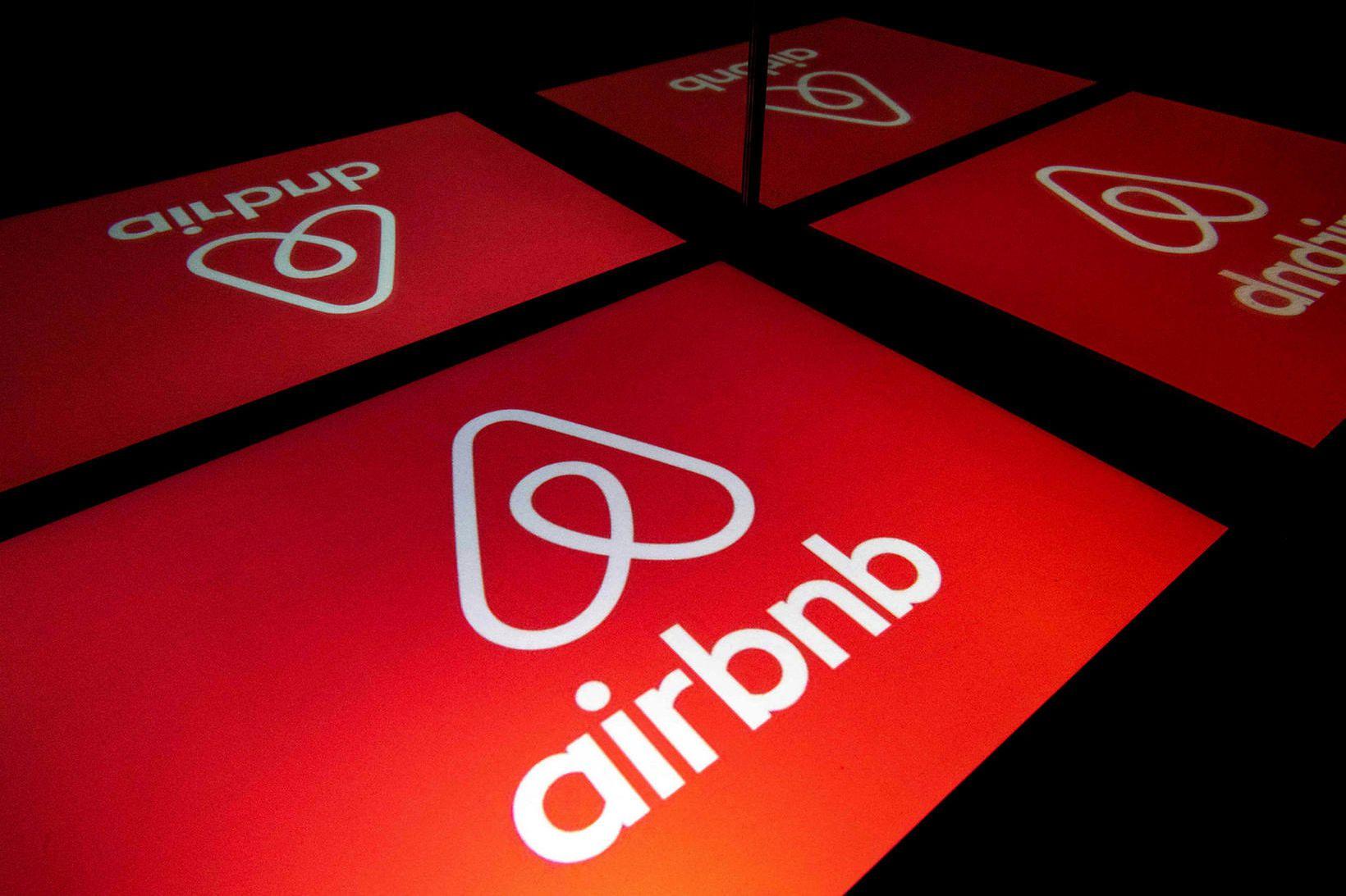 Konan var áminnt af Airbnb.