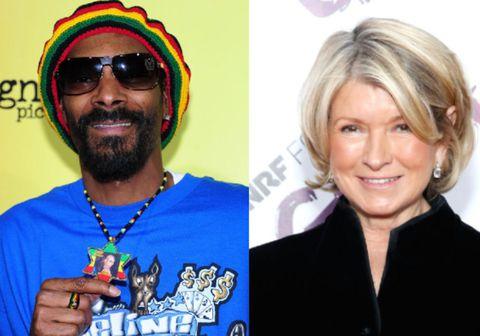 Snoop Dogg og Martha Stewart.