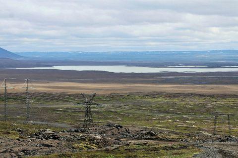 Sandvatn lake in Haukadalsheiði heath.