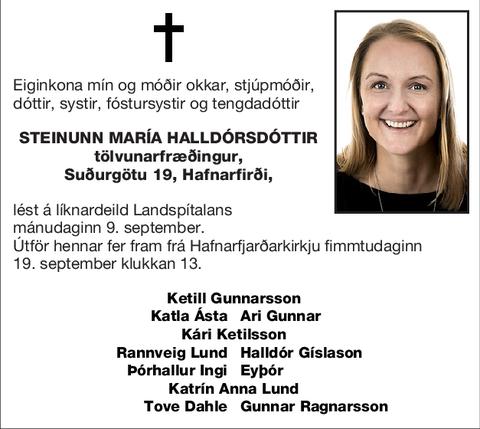 Steinunn María Halldórsdóttir