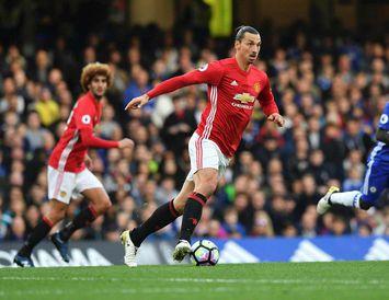 Zlatan Ibrahimovic í leiknum gegn Chelsea.