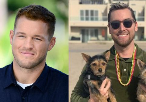 Colton Underwood (t.v.) og Lance Bass (t.h.).