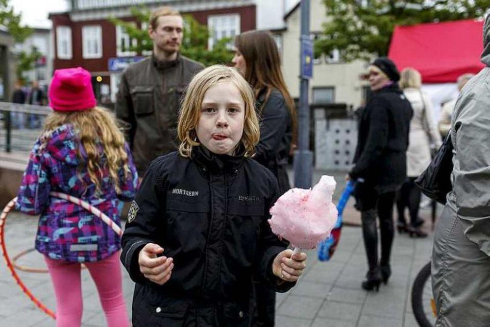 Frá hátíðarhöldum í Reykjavík.